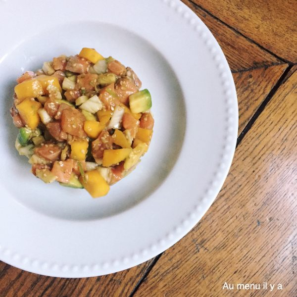 recette tartare de saumon avocat mangue fenouil poke blog culinaire food. Black Bedroom Furniture Sets. Home Design Ideas
